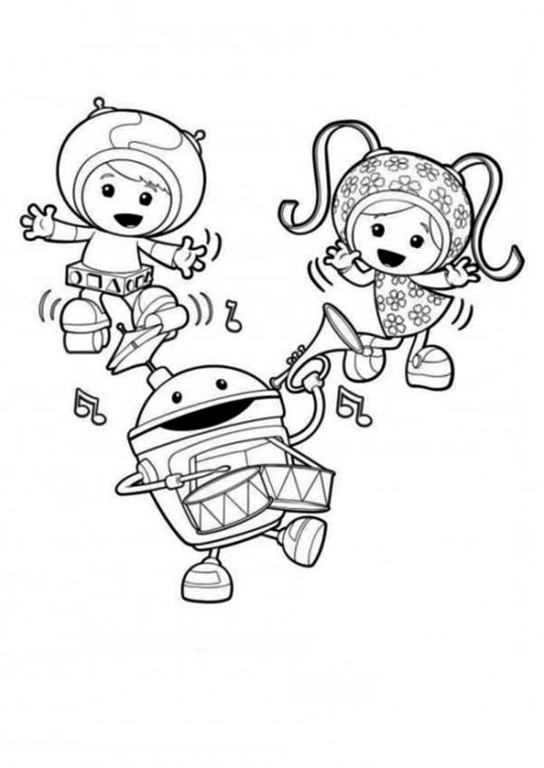 Team Umizoomi Is Having Fun Together Coloring Page : Color