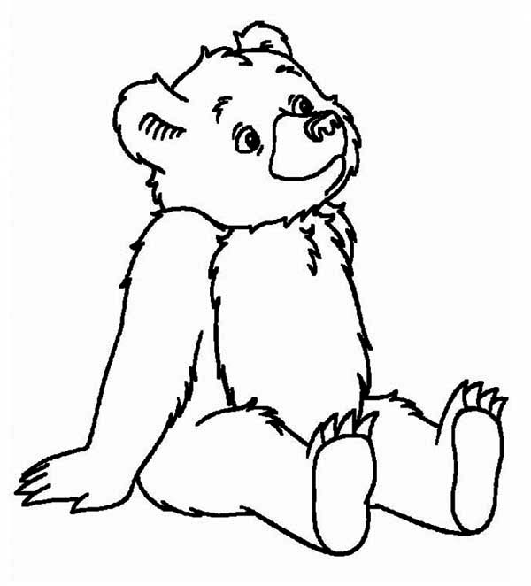 Teddy Bear Day Dreaming Coloring Page : Color Luna