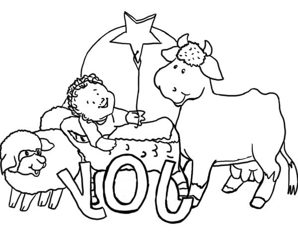 The Gospel Story Nativity Of Jesus Coloring Page : Color Luna
