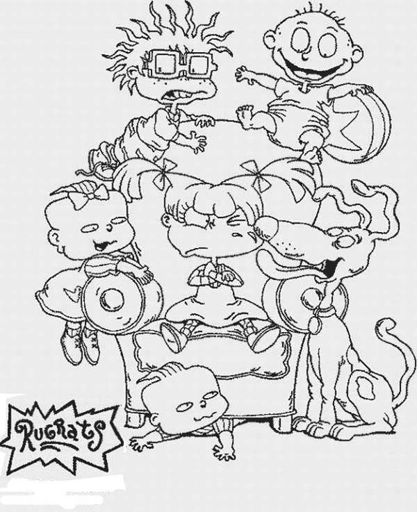 The Rugrats Coloring Page For Kids : Color Luna