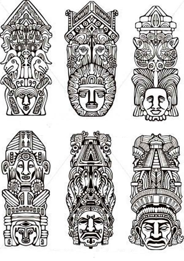 Various Native American Totem For Native American Day