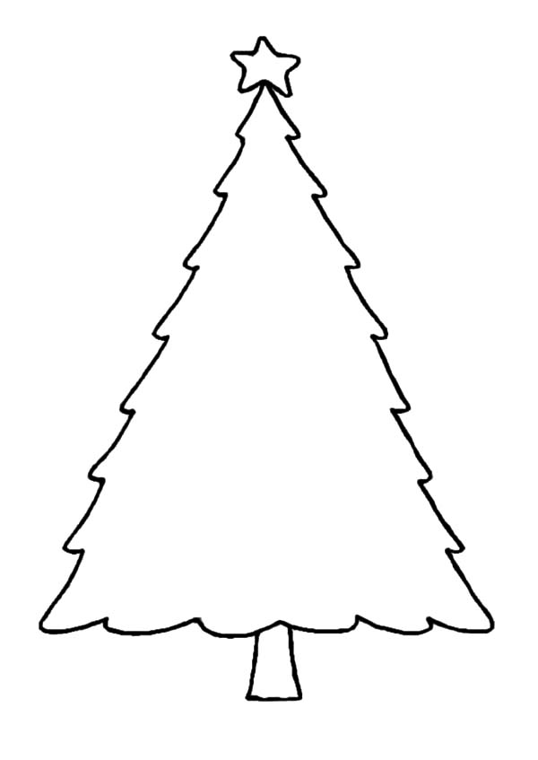 Christmas Trees Outline Coloring Pages : Color Luna