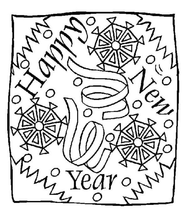 New Years Eve Greeting Message On 2015 New Year Coloring
