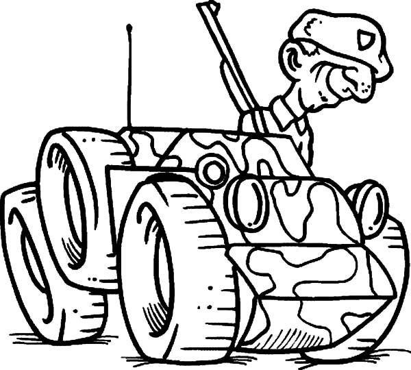 Cartoon Military Soldier Smile Coloring Pages : Color Luna