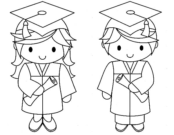 Graduation Gown Coloring Pages Coloring Coloring Pages