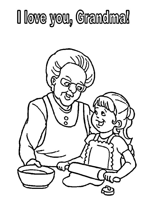 I Love You Grandmother Coloring Pages : Color Luna