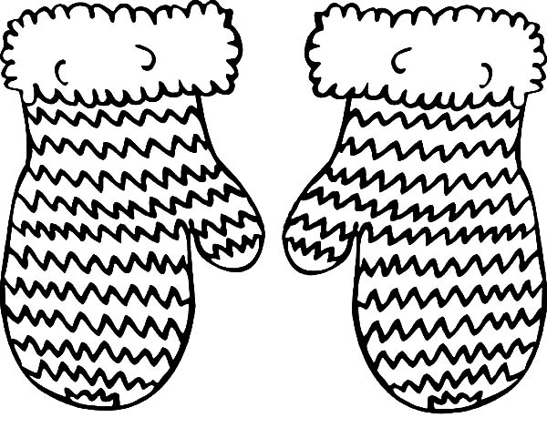 Knitted Mittens Coloring Pages : Color Luna