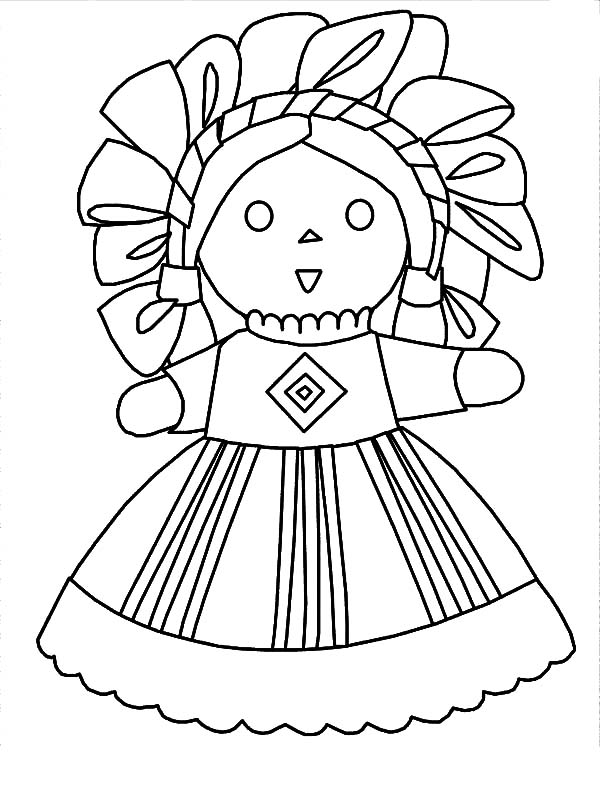 Mexican Dress Doll Coloring Pages : Color Luna