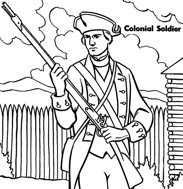 Military Colonial Soldier Coloring Pages : Color Luna