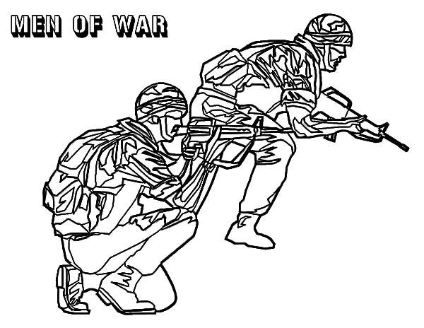 Military Men Of War Coloring Pages : Color Luna