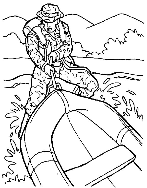 Military Rubber Boat Coloring Pages : Color Luna