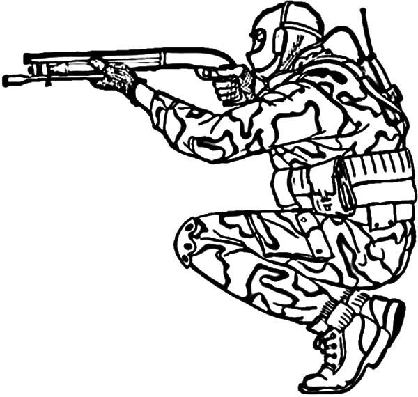 Military Shotgun Coloring Pages : Color Luna