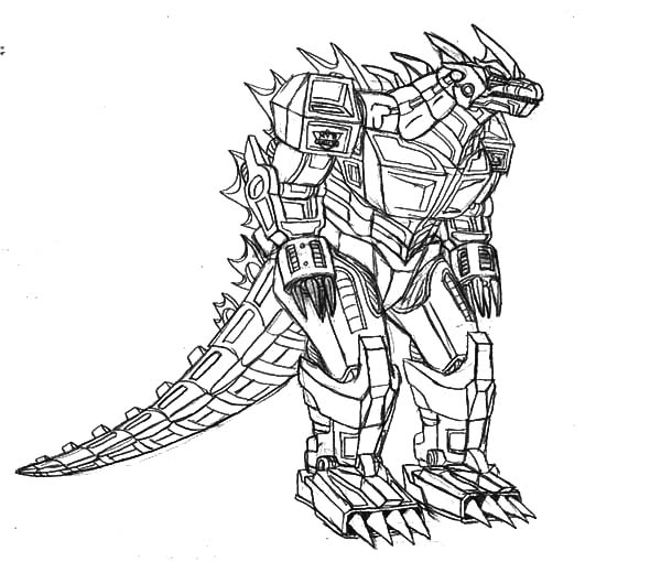 Robot Godzilla Coloring Pages Color Luna