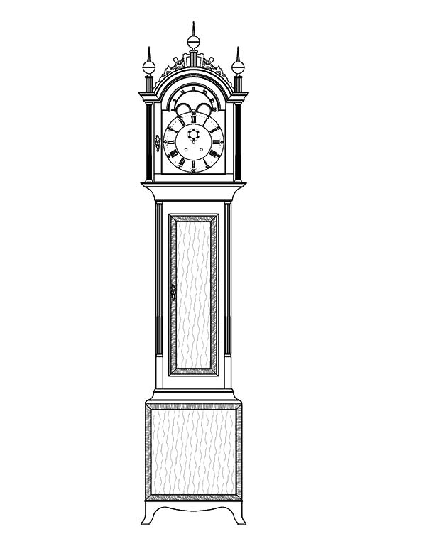 Tall Case Grandfather Clock Coloring Pages : Color Luna