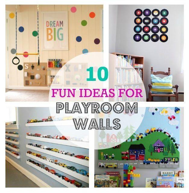 10 Fun Ideas For Playroom Walls  Color Made Happy