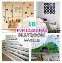 10 Fun Ideas For Playroom Walls  Color Made Happy