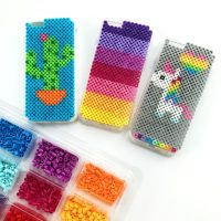 Perler Bead DIY iPhone Case Holder - Color Made Happy