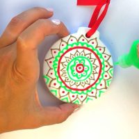 DIY Christmas Ornaments Puffy Paint Craft  Color Made Happy