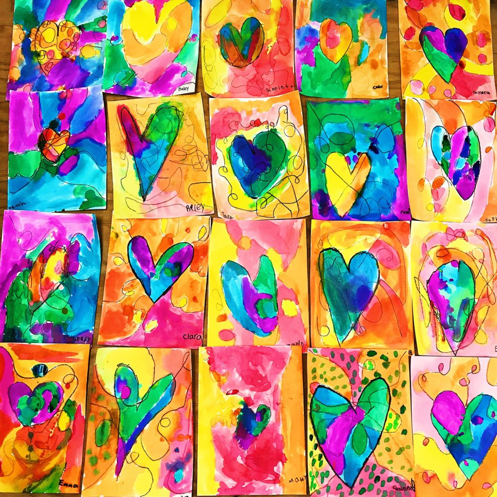 Kids Heart Art Project Color Made Happy