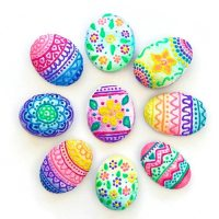Rock Painting Designs Using Puffy Paint  Color Made Happy