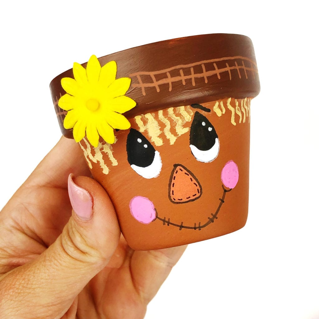Scarecrow Flower Pot Craft Color Made Happy
