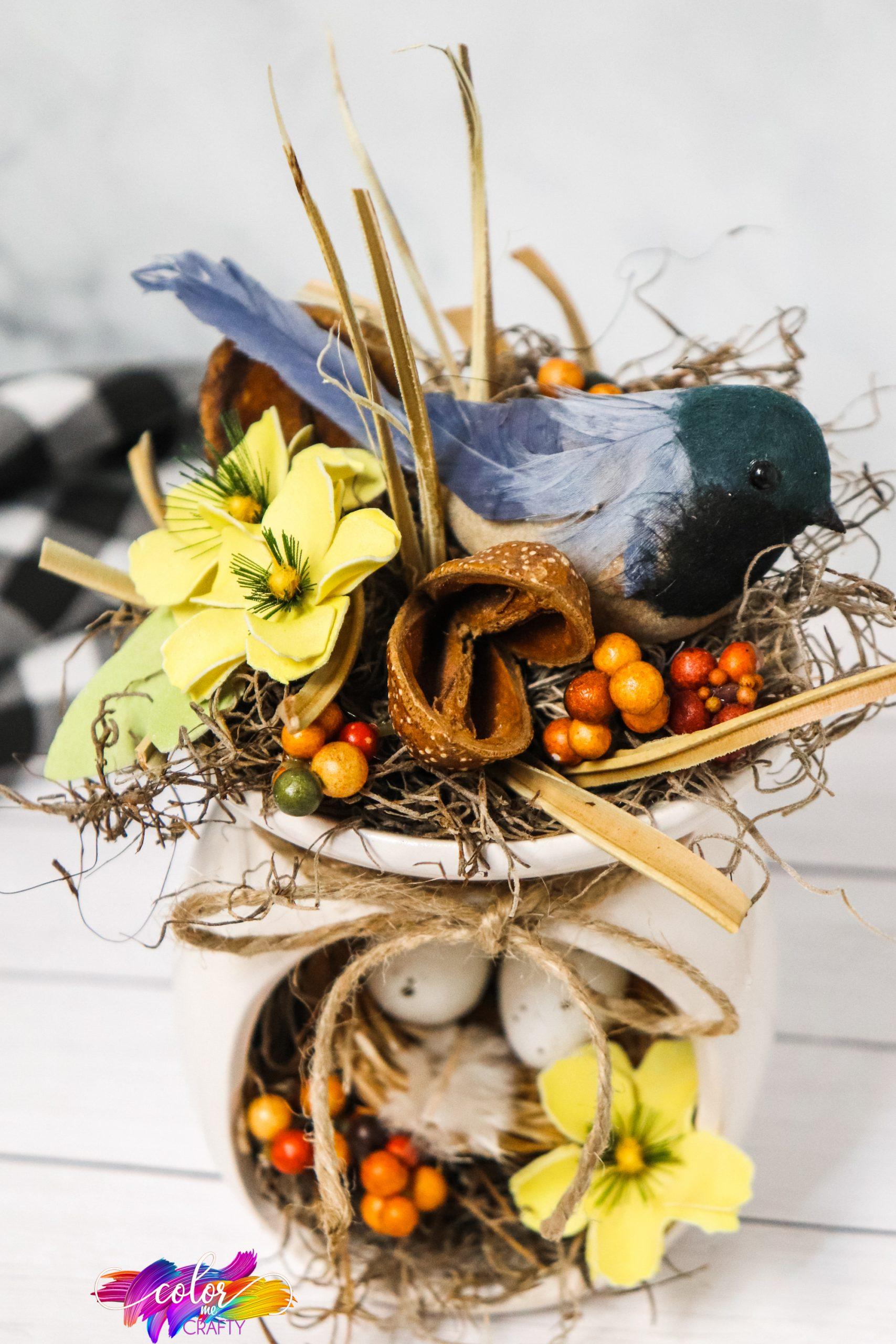 DIY Farmhouse Birds Nest Centerpiece