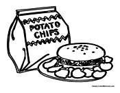 Lunch Box Coloring Page Coloring Coloring Pages