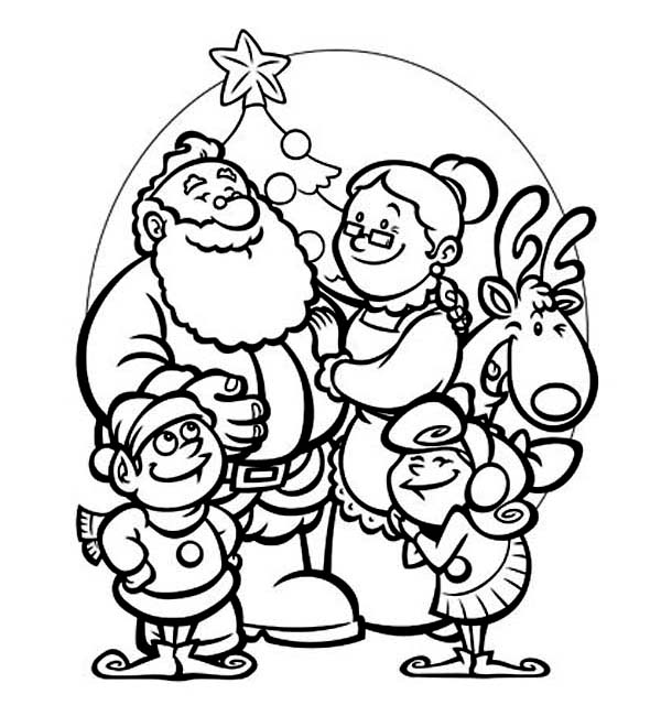 All Members Of Santas Family Celebrating Christmas