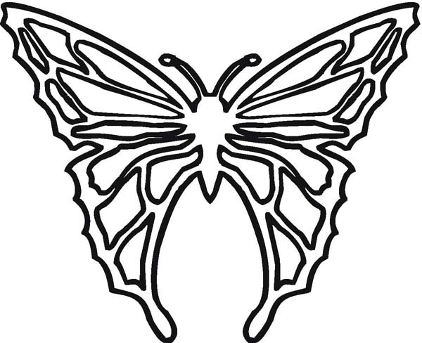 Cool Butterfly Illustration In Contemporary Style Coloring