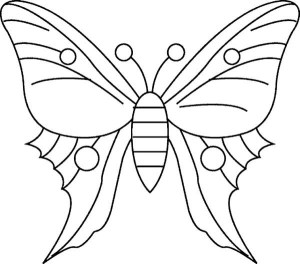 butterfly coloring simple drawing pages