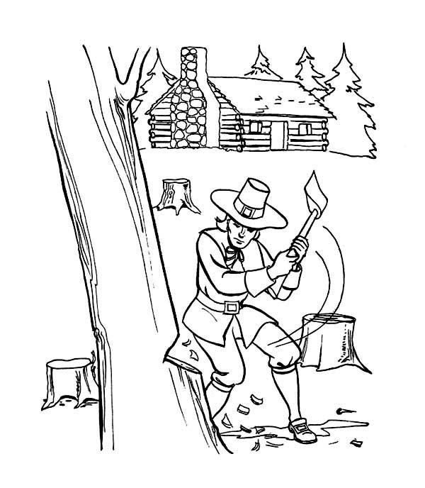 Thanksgiving Day Activities And Preparation Coloring Page