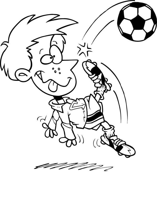 A Hilarious Bicycle Kick On Soccer Game Coloring Page