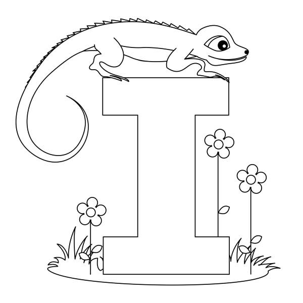 I Letter For Iguana Coloring Page Download Print Online Coloring Pages For Free Color Nimbus