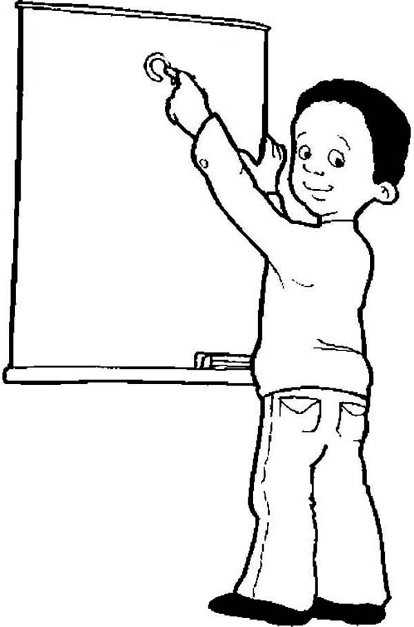 Meet The Teacher On First Day Of School Coloring Page