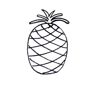 pineapple simple drawing coloring easy pages getdrawings clipartmag cartoon line