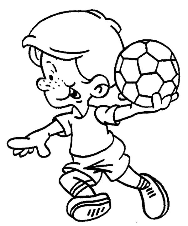 This Little Boy Is Ready To Make A Soccer Throw In