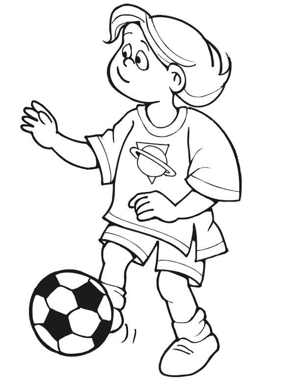 This Little Girl Playing Soccer Alone Coloring Page