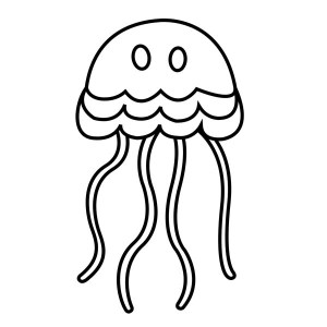 jellyfish coloring cartoon simple pages drawing fish clipart printable drawings draw sheets clip easy colouring colornimbus realistic characters star wars