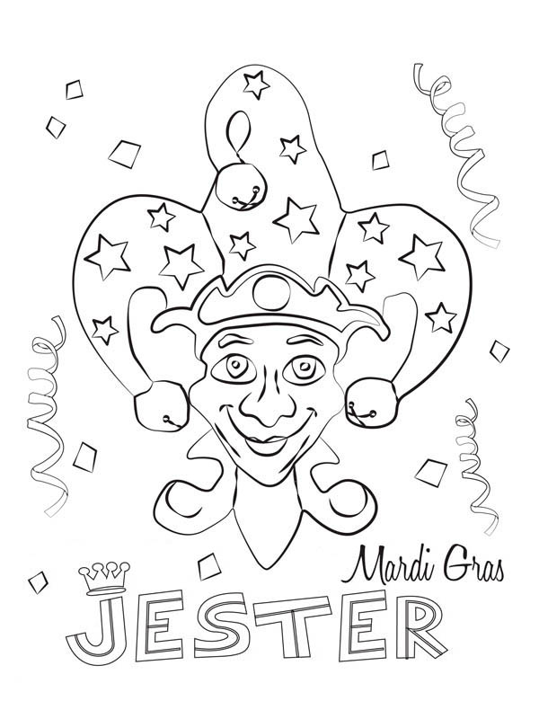A Colorful Mardi Gras Fest Pamphlet Coloring Page