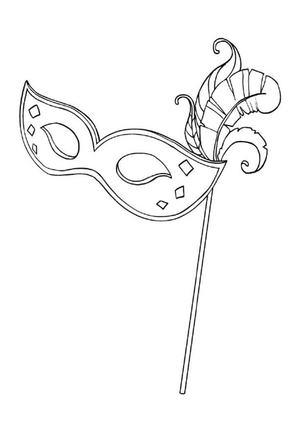 A Typical Mardi Gras Mask For Lady Coloring Page
