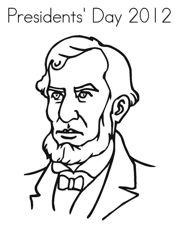 Abe Lincoln Figure On Presidents Day Coloring Page