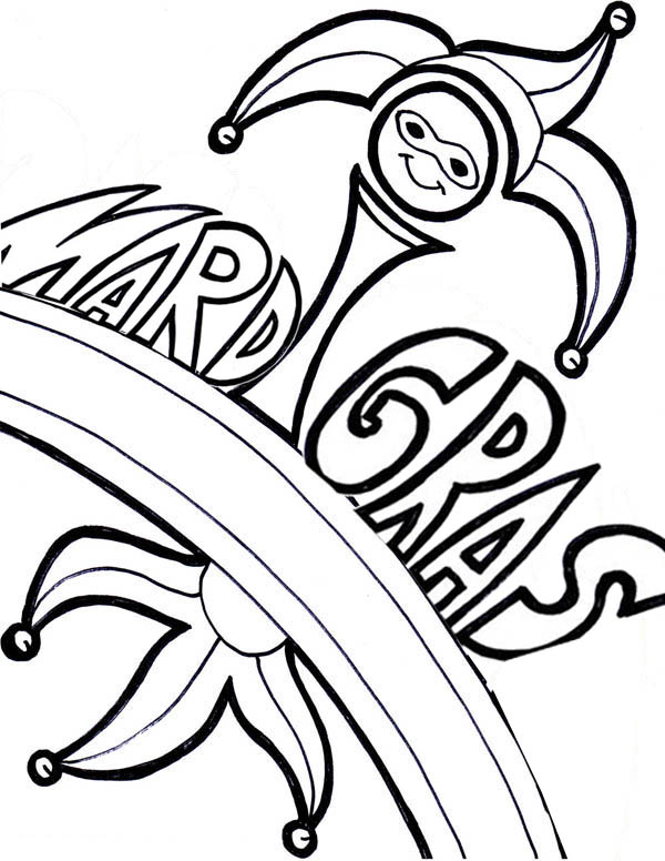 Celebrating Mardi Gras Festival on February 12th Coloring