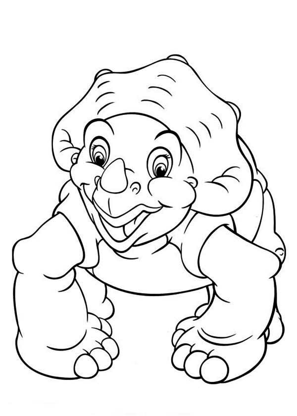 Land Before Time Family Cera Want to Play Coloring Page