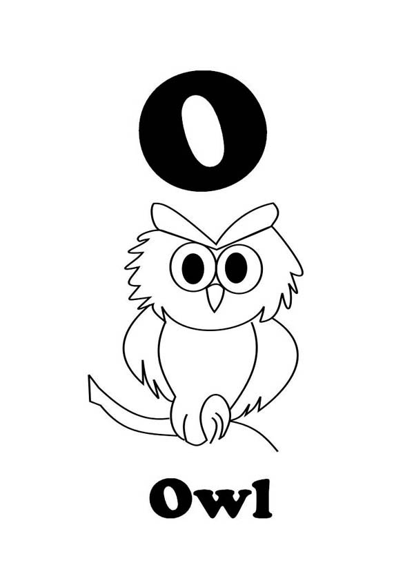 Letter O For An Owl Coloring And Writing For Kids Coloring