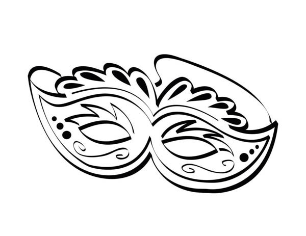Ornamentic Mardi Gras Mask For The Festival Coloring Page