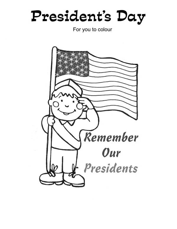 Remembering Our Presidents on Presidents Day Coloring Page