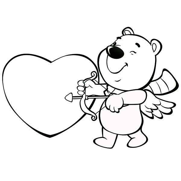 This Cute Little Bear Is Acting As Cupid For Valentine's