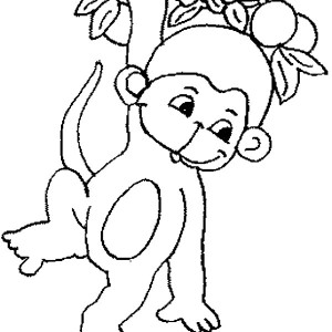 Easy Cute Monkey Coloring Pages Sketch Coloring Page