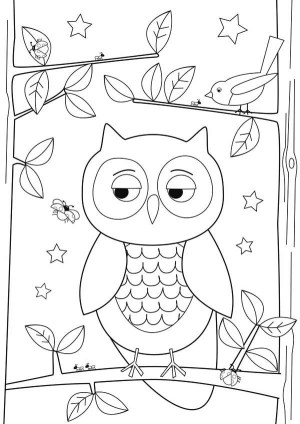 owl drawing simple coloring pages step easy drawings draw owls colornimbus designs getdrawings