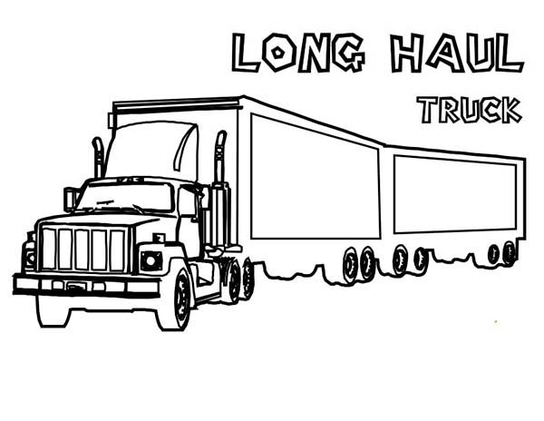 Tractor Trailer Coloring Page Sketch Coloring Page
